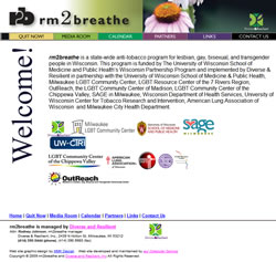 rm2breathe - quit smoking program for LGBT people in Wisconsin