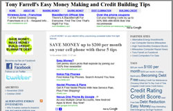 Tony Farrell's Easy Money Making and Credit Building Tips